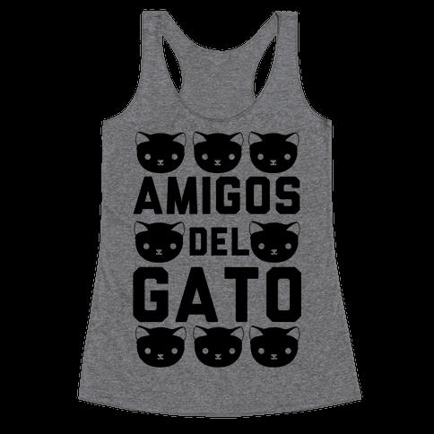 Amigos Del Gato Racerback Tank Top