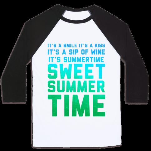 Sweet Summertime Baseball Tee