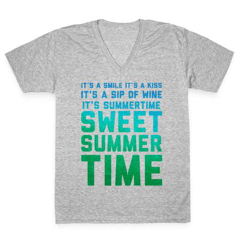Sweet Summertime V-Neck Tee Shirt