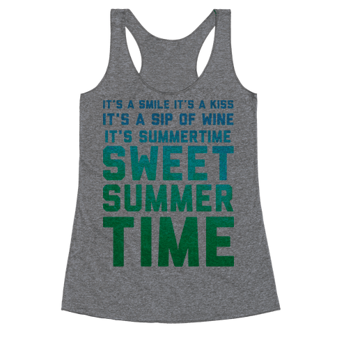 Sweet Summertime Racerback Tank Top