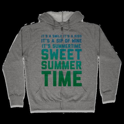 Sweet Summertime Zip Hoodie