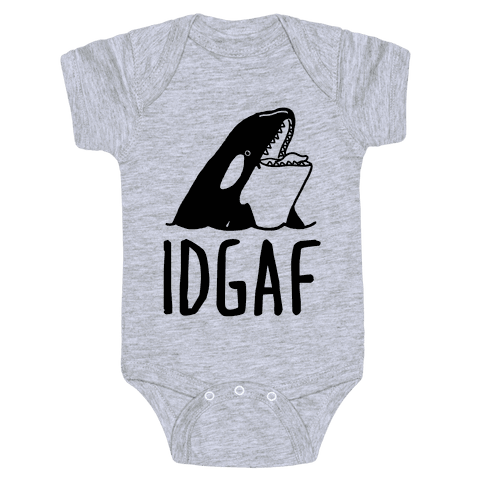 IDGAF Orca Baby Onesy