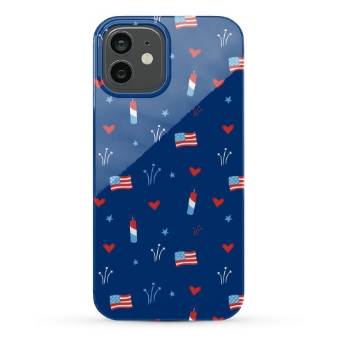 American Pride Pattern (Blue) Phone Case