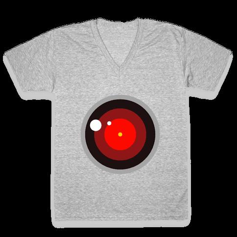 Evil Robot V-Neck Tee Shirt