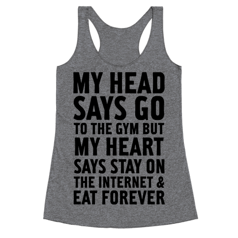 Stay on the Internet Racerback Tank Top