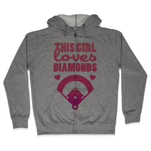 This Girl Loves (Baseball) Diamonds Zip Hoodie