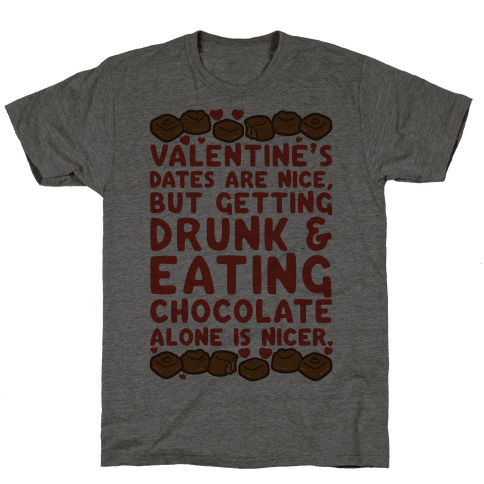 Valentines Dates And Chocolate Mens T-Shirt
