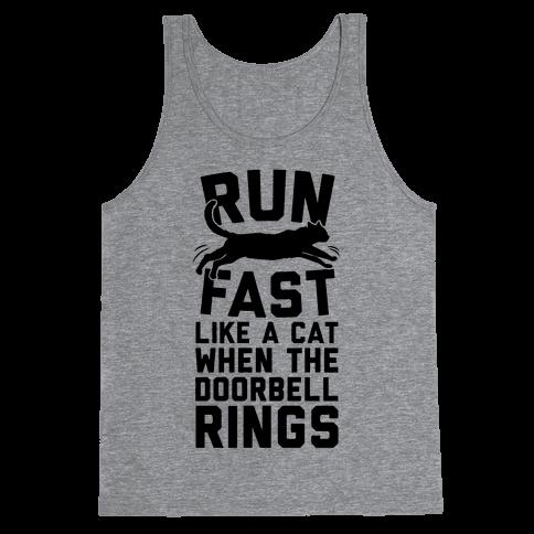 Run Fast Like A Cat Tank Top