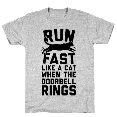Run Fast Like A Cat Mens T-Shirt