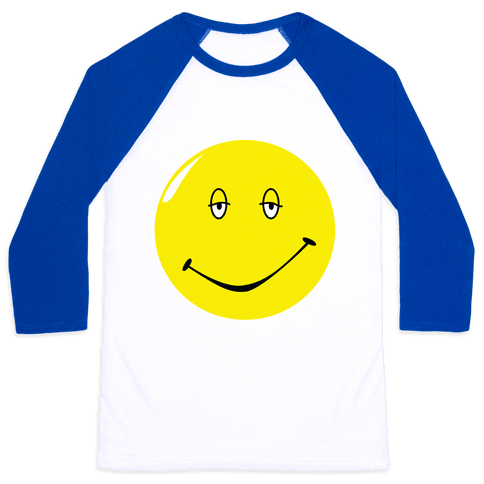 Dazed and Confused Stoner Smiley Face Baseball Tee