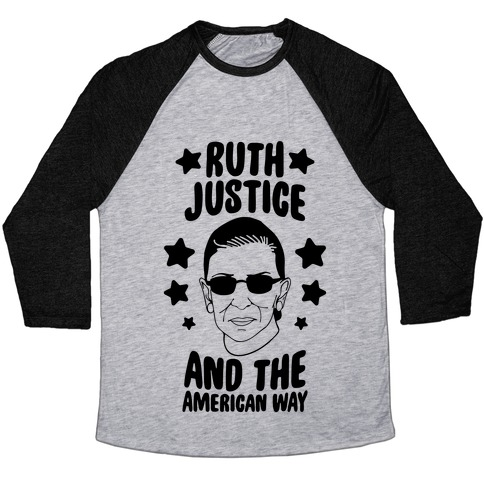 Ruth, Justice, And The American Way Baseball Tee