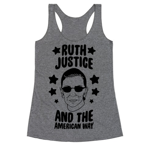 Ruth, Justice, And The American Way Racerback Tank Top