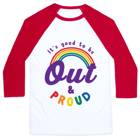 Out & Proud Baseball Tee