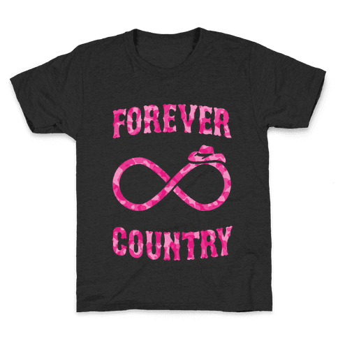 Forever Country (pink camo) Kids T-Shirt