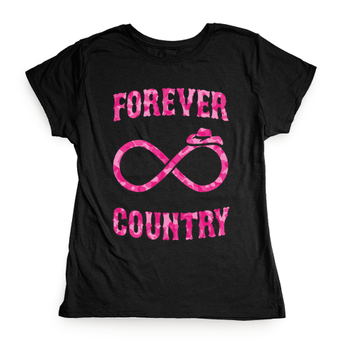 Forever Country (pink camo) Womens T-Shirt