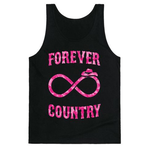 Forever Country (pink camo) Tank Top