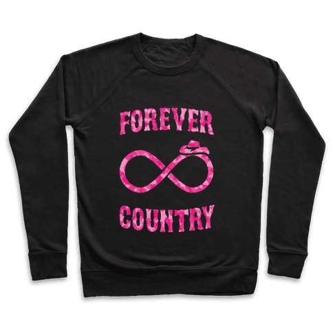 Forever Country (pink camo) Pullover
