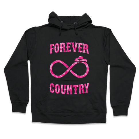 Forever Country (pink camo) Hooded Sweatshirt