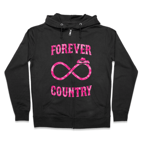 Forever Country (pink camo) Zip Hoodie