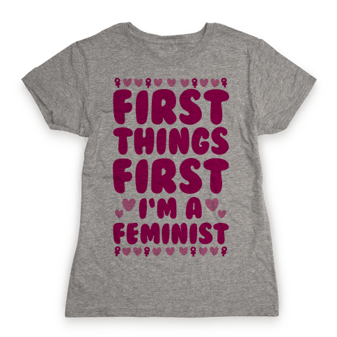 Fancy Feminist Womens T-Shirt