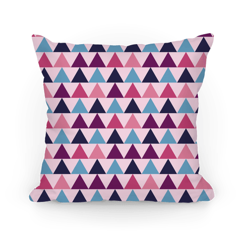 Triangle Pattern Pillow (Pink) Pillow
