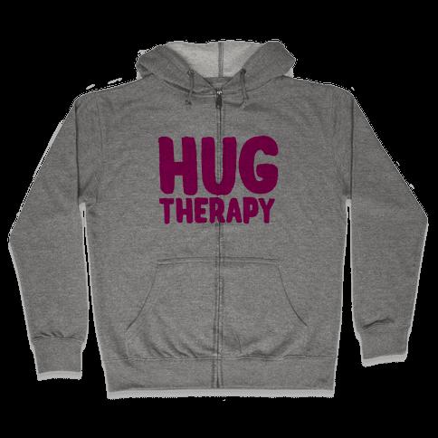 Hug Therapy Zip Hoodie