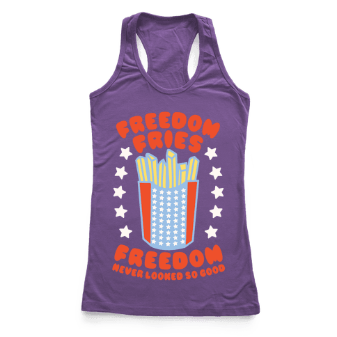 Freedom Fries Racerback Tank Top