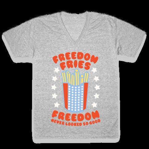 Freedom Fries V-Neck Tee Shirt