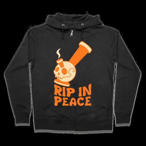 Rip In Peace Zip Hoodie