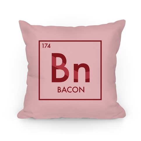 Bacon Periodic Element Pillow
