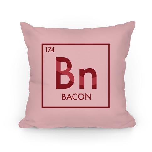 Bacon Periodic Element Pillow