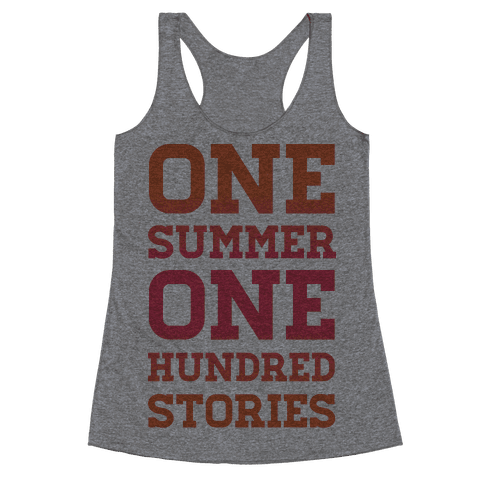 One Summer One Hundred Stories Racerback Tank Top