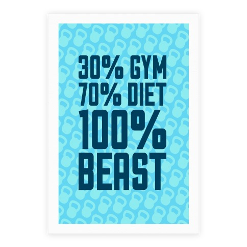 30% Gym, 70% Diet, 100% BEAST Poster