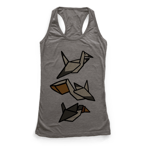 Nautical Origami Seabirds Racerback Tank Top