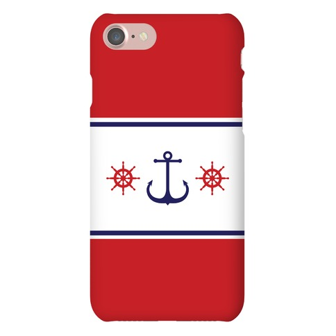 Anchor and Stripes Phone Case
