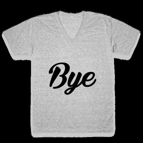 Bye V-Neck Tee Shirt