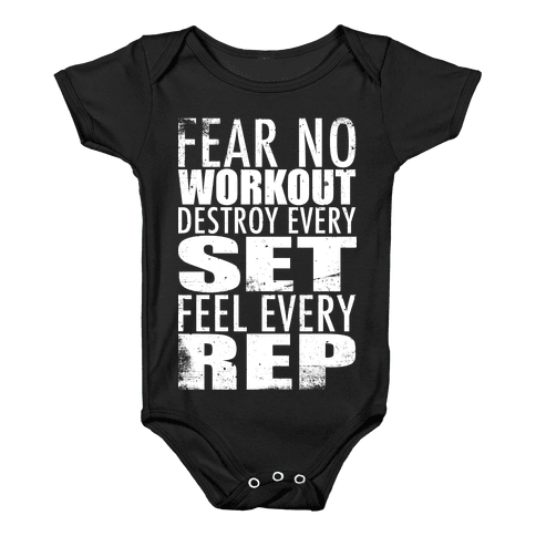 Fear No Workout Baby Onesy