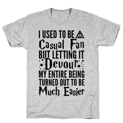 I Used To Be A Casual Fan (Harry Potter) Mens T-Shirt