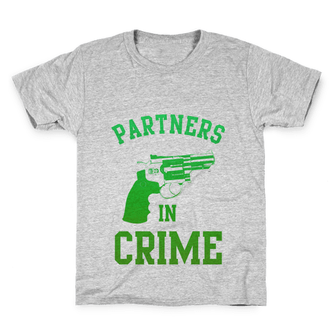 Partners in Crime (Green) Kids T-Shirt