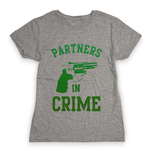 Partners in Crime (Green) Womens T-Shirt