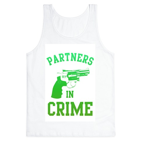 Partners in Crime (Green) Tank Top