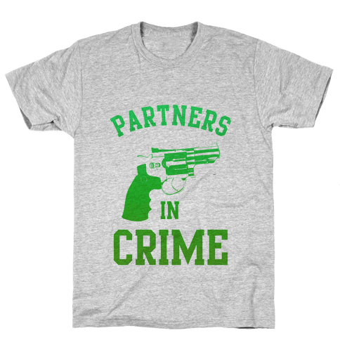 Partners in Crime (Green) Mens T-Shirt