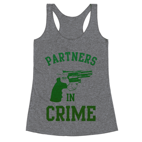 Partners in Crime (Green) Racerback Tank Top