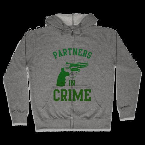 Partners in Crime (Green) Zip Hoodie