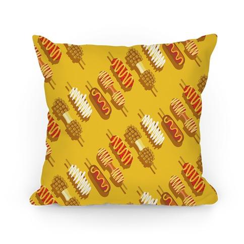 Korean Corndog Pattern Pillow
