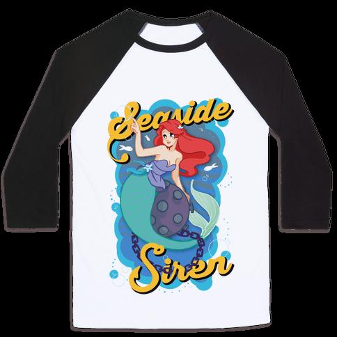 Seaside Siren Baseball Tee