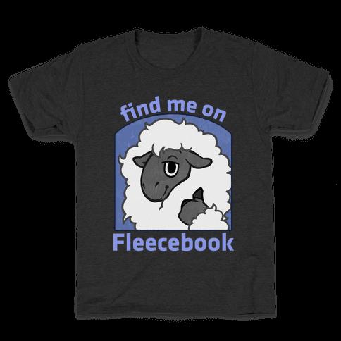 Find Me On Fleecebook Kids T-Shirt