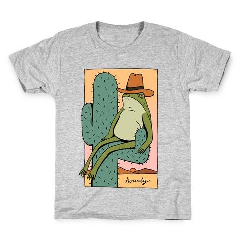 Howdy Frog Cowboy Kids T-Shirt
