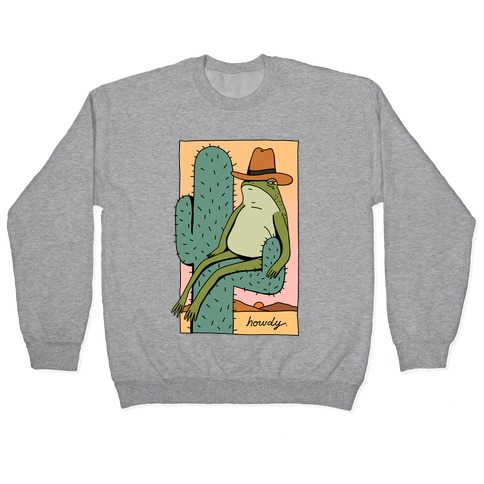 Howdy Frog Cowboy Pullover