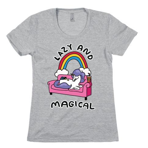 Lazy & Magical Womens T-Shirt